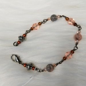 Jewelry - Crystal's and River Rock Bracelet